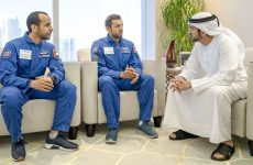Dubai Crown Prince meets the first Emirati astronauts