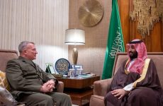 Saudi Crown Prince meets commander of US Central Command