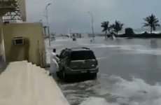 Video: High sea waves cause flooding in parts of the UAE