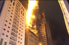 Massive fire breaks out at Sharjah residential tower