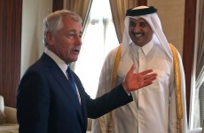 Chuck Hagel Underscores Support For Syrian Moderates