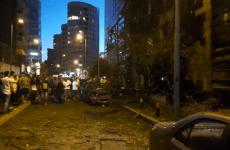 Powerful blast outside Beirut bank