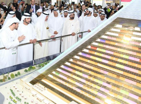 HH Sheikh Mohamed Bin Rashed Al Maktoum visits Falcon City of Wonders in City scape
