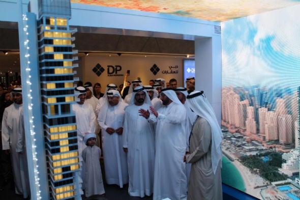His Highness Sheikh Mohammed bin Rashid Al Maktoum visits DPG stand