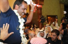 Pictures: Kuwaiti gold medal winner Aldeehani arrives home