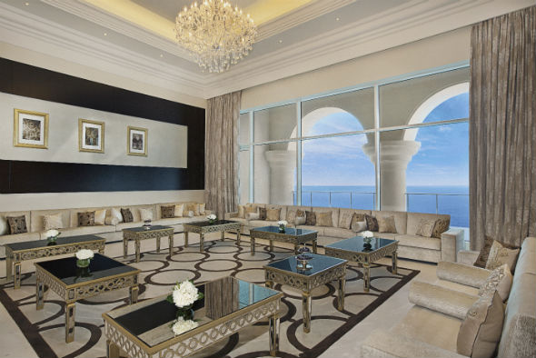 Waldorf Astoria Dubai May 2014  Royal Suite Majless