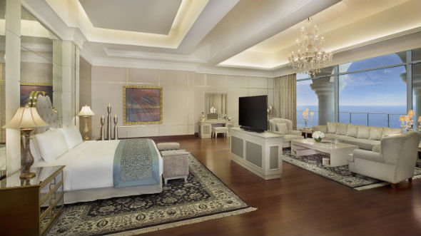 Waldorf Astoria Dubai May 2014  Royal Suite Master Bedroom