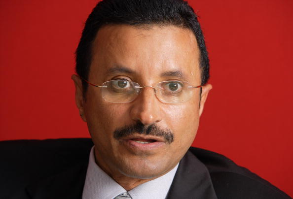 Sultan Ahmed Bin Sulayem, chairman of DP World, speaks durin