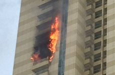 Video: Fire in high-rise Dubai Marina tower, no injuries