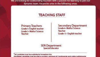 English Teacher Job Dubai UAE | Gulf Career Hunt