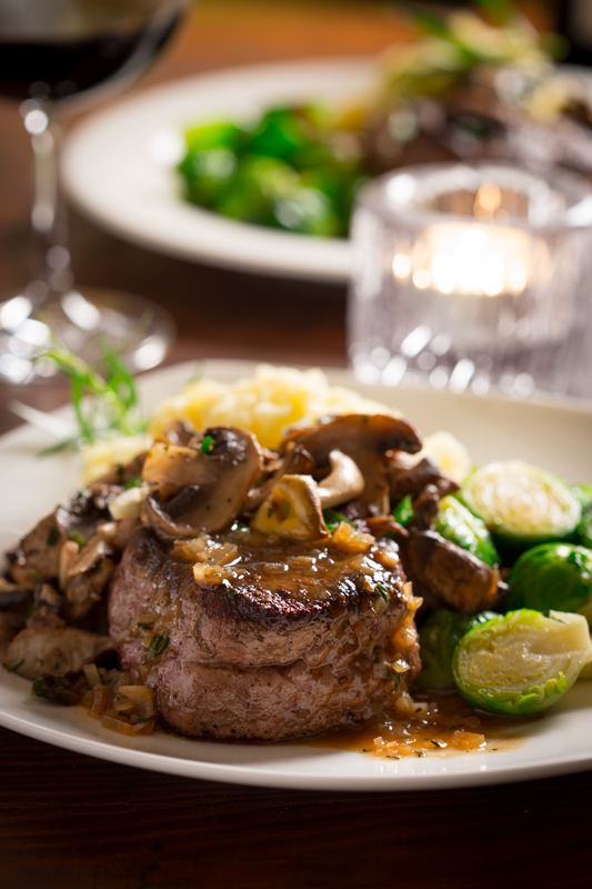 Homemade Romantic Dinners - Big Sexy Steaks with Tarragon Mushrooms
