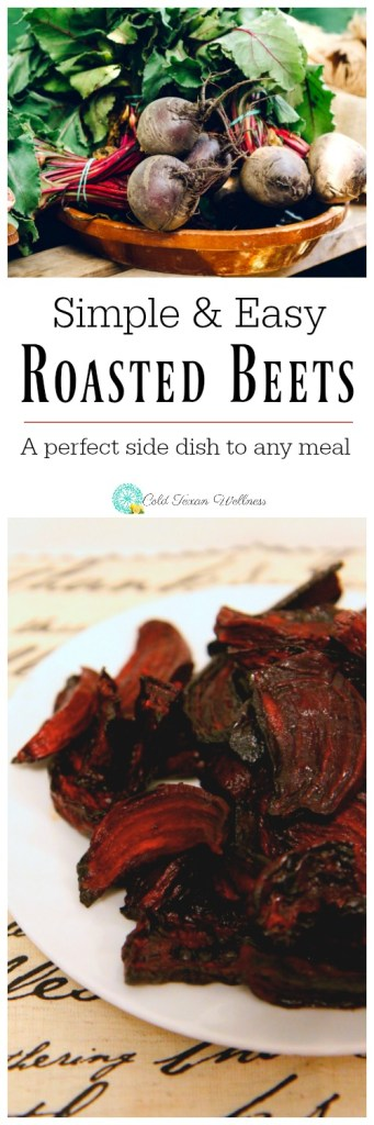 Simple and Easy Roasted Beets: The perfect side dish to any dinner, not to mention adds a stunning splash of color to holiday meals #beets #vegetarianrecipe #veganrecipe #21dayfix #paleo #glutenfree #holidayrecipe #thanksgivingrecipe