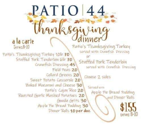 order thanksgiving meals on the gulf coast