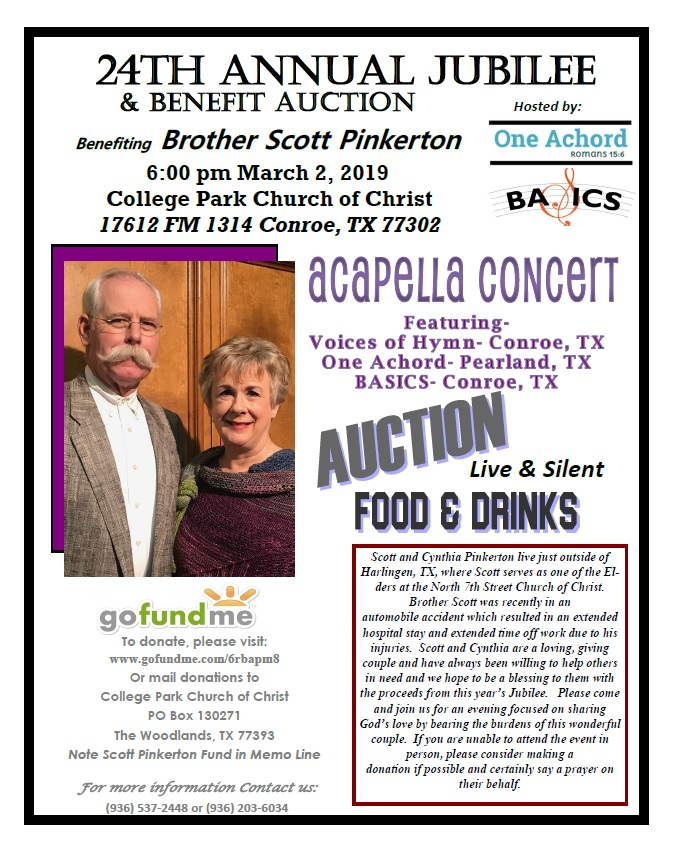 24th Annual Jubilee and Benefit Auction at the College Park Church