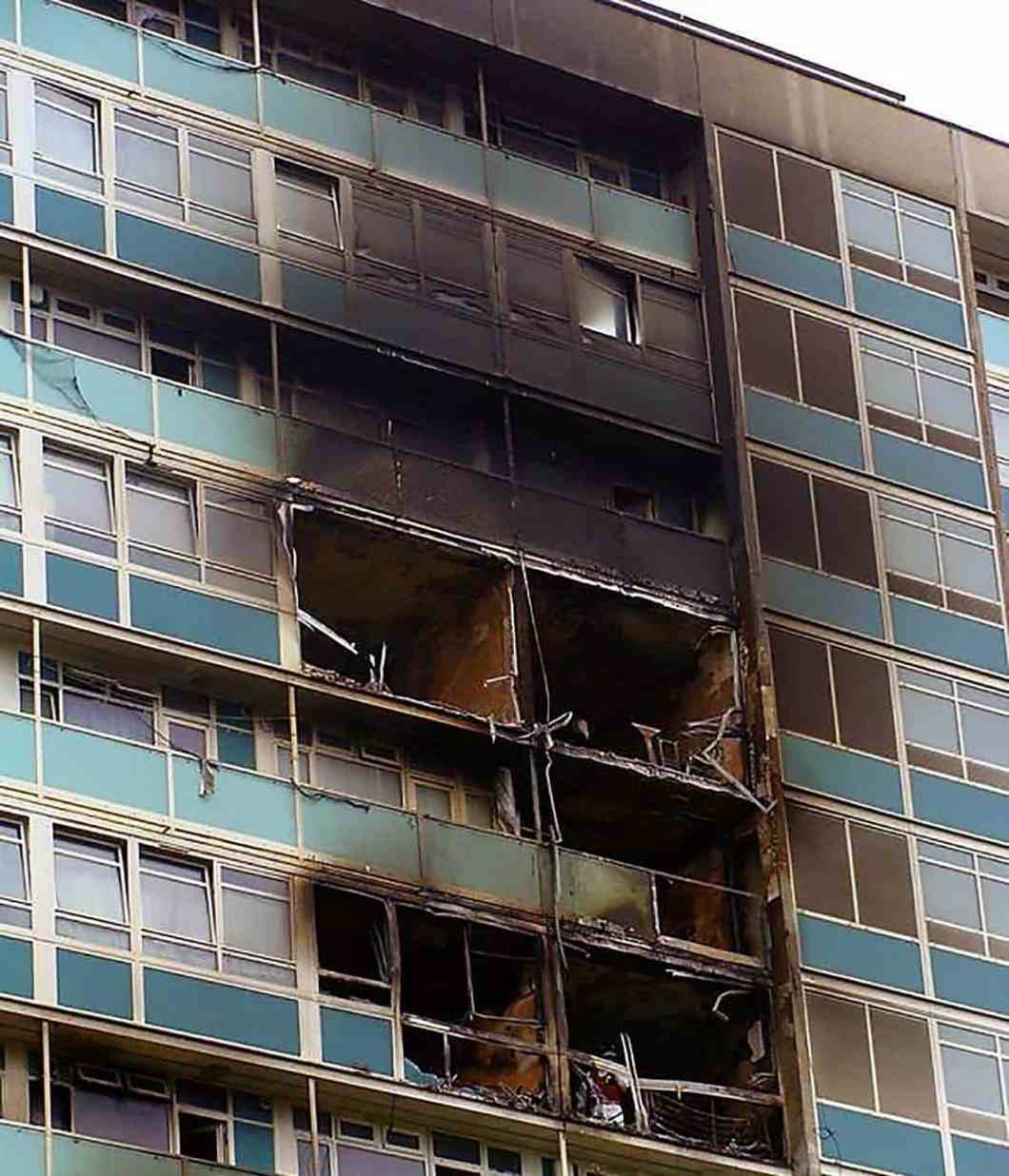 Fire in Lakanal House (July 2009) in which six people died.
