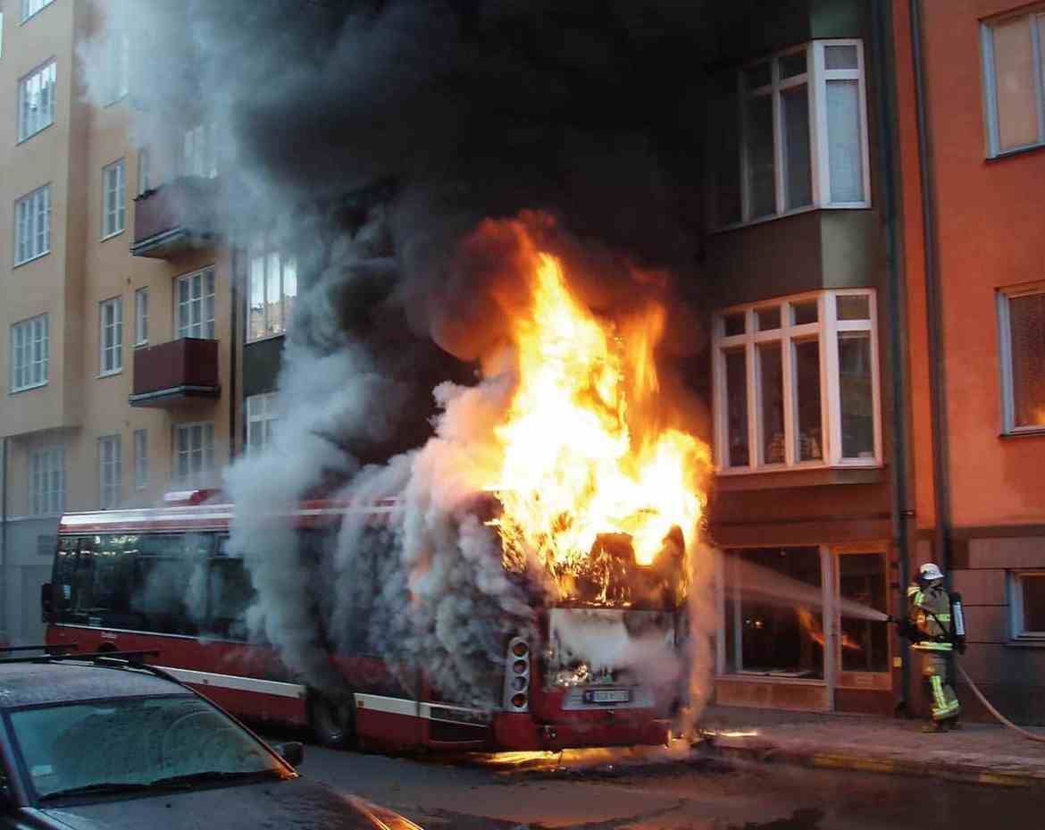 Figure 1: Bus fires a common issue worldwide.