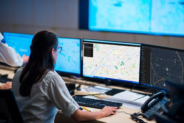 Control-room operators will be able to confirm the status of emergency services vehicles, including locations and lights activation, using a new system developed by NEC Software Solutions and Handsfree Group. (NEC Software Solutions)