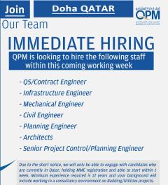 Qatar Project Management QPM jobs in Qatar