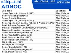 ADNOC Latest vacancy & Career in UAE 2021