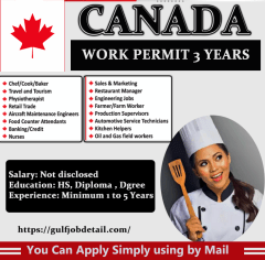 General Assistant || Cook Assistant in Canada
