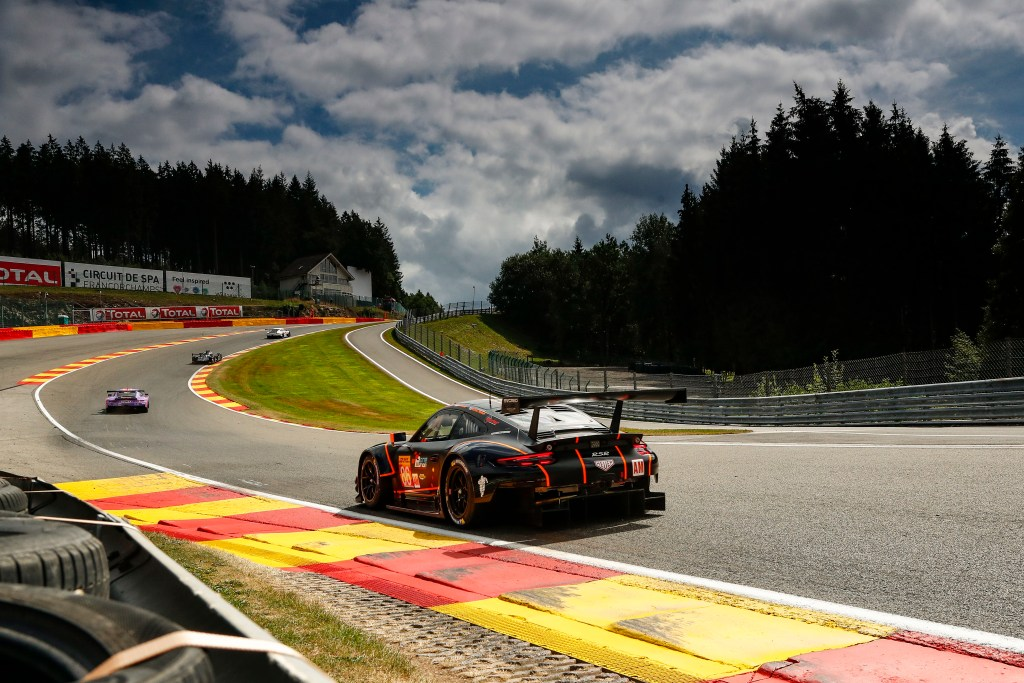 Black Porsche 911 RSR at 6 Hours of Spa Francorchamps