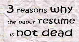 paper resume is not dead