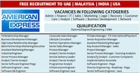 latest jobs Hiring At American Express In Singapore-USA