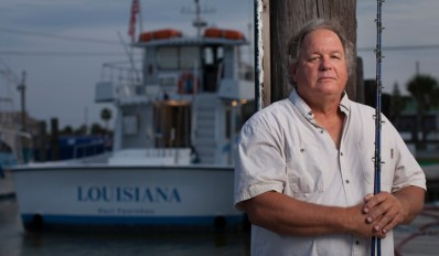 Steve Tomeny of Port Fourchon, LA on his his boat, The Louisiana. Federal fisheries ocean policy fish commercial fisherman gulf of mexico tomenyportrait