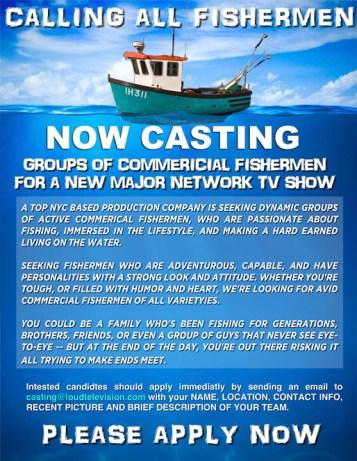 FISHERMEN CASTING CALL