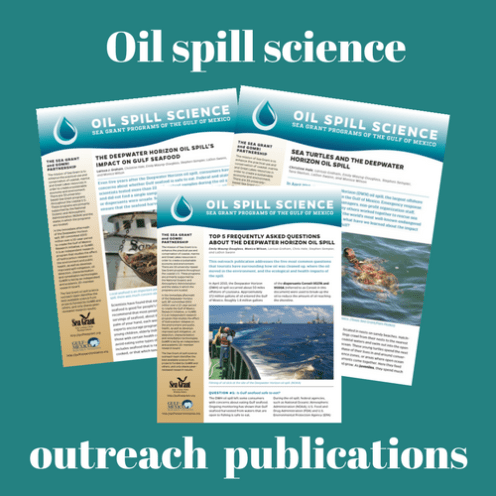 Oil spill science outreach publications