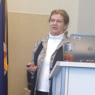 Speaker Jacqui Michel discusses how her team responded to an oil spill in Tampa Bay.