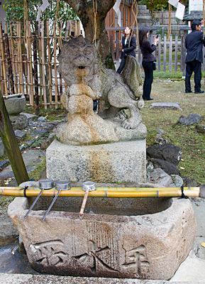 Arınma Çeşmesi, Tamukeyama Hachimangu Tapınağı, Nara