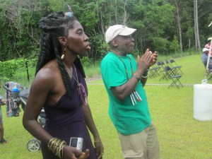 Gullah/Geechee Nation International Music & Movement Festival™ Founders, Queen Quet & Kwame Sha enjoying the fest.