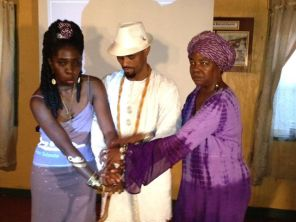 Queen Quet, Alase Oba Adefunmi Adejuyigbe, and Elder Carlie Towne
