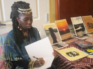Queen Quet, Chieftess of the Gullah/Geechee Nation book signing