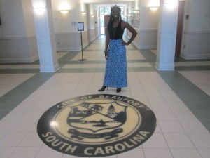 Queen Quet at Beaufort City Hall