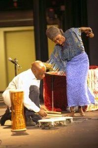 Queen Quet & Kwame Sha Drum Dance
