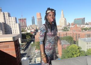 Queen Quet and the NYC Skyline