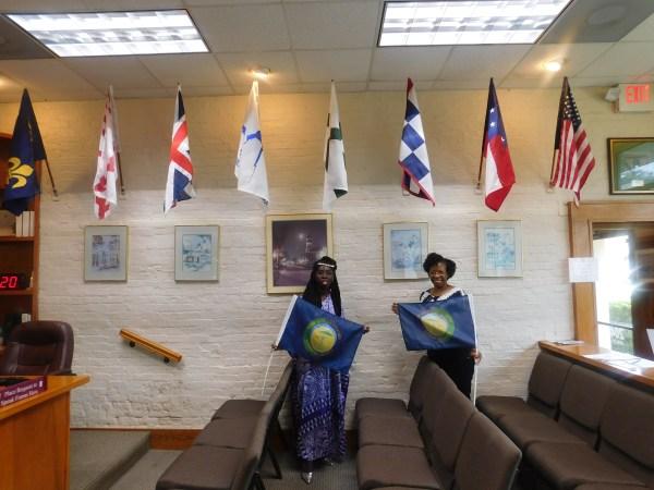 Queen Quet & Glenda Simmons-Jenkins at Fernandina Town Hall