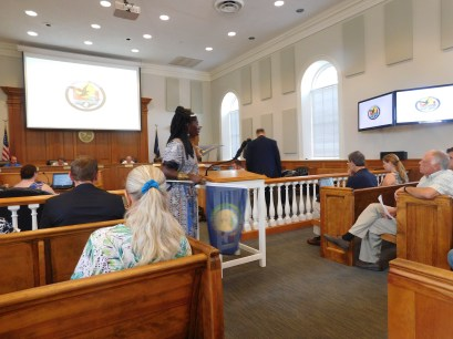 Queen Quet at Georgetown County Council