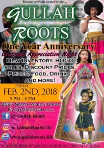 Gullah Roots 1 Year Anniversary