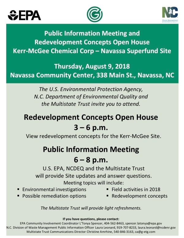 Navassa Kerr-McGee 2018-8-9 Open House and Public Meeting Flyer (final)