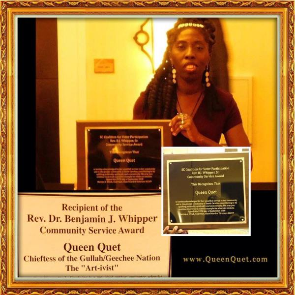 Queen Quet Receives BJ Whipper Community Service Award