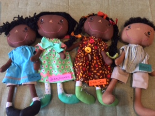 Lt to Rt. DeRon,  Geraldinara, Etta Jane, and Percy We now have 4 Gullah Boys at the shop