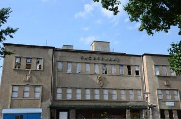 Sachsenbad, Pieschen, Dresden, Nikkor. Invigt 1929, ritat av Dresdens Stadtbaudirektor Paul Wolf i enlighet med modernaste badhusideal..