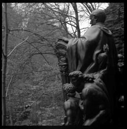 Wagnerdenkmal, Liebethaler Grund, Planar 80 mm, T-max 100.
