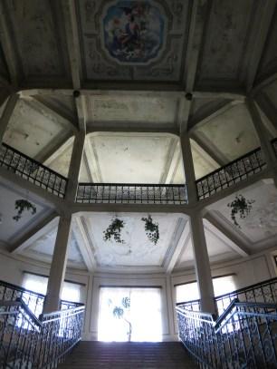 Interiör av rumänska kulturpalatset.