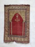 Turkisk bönematta i evangeliska kyrkan i Mühlbach, vanlig syn i de sachsiska kyrkorna.