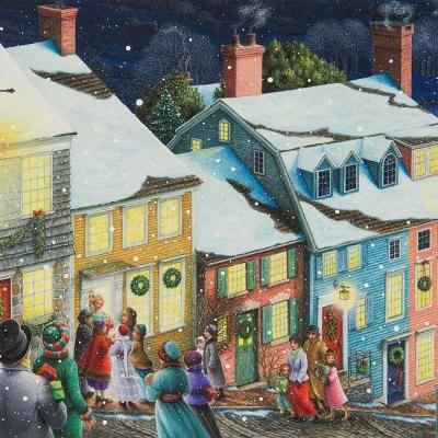 Christmas carolers por Lynn Bywaters