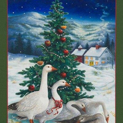 Christmas geese por Lynn Bywaters